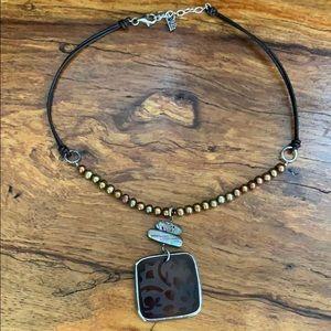 Silpada copper pearl necklace